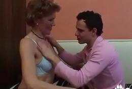 Elderly Granny Teachs A Boy How To Fuck