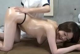 Subtitled ENF CFNF Japanese lesbian massage asylum anal care