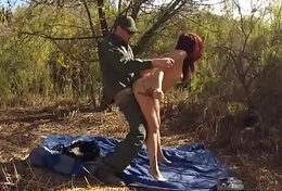 Milf blowjob swallow xxx Oficer of patrol agrees to help redhaired