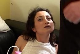 Squirting brit slut fingerfucked near