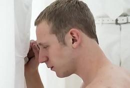 MormonBoyz-Young stud sucks a giant gumshoe on tap a gloryhole