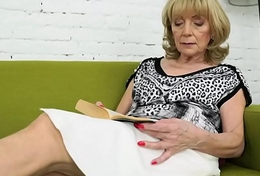 Elderly lady Szuzanne and her big cocked young lover