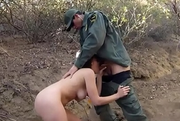 British female cop Kayla West was ensnared lusty patrool during border