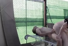 he bonks her in the shopping cart. RAF183