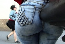 Mature Dominican in Tight Blue Jeans!