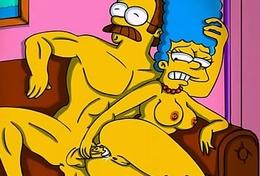 Simpsons porn cartoon parody