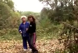 Granny Lesbian Adore In The Forest