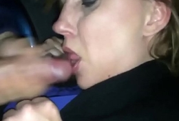 Horny Milf Sucks a Stranger Absent regarding the Car