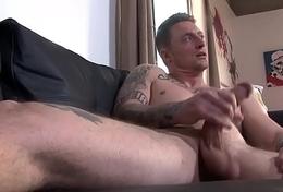 Horny rafter Dane Stewart wanks