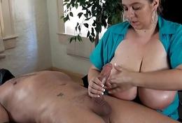 36H femdom handjob cock evaluation