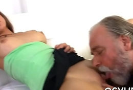 Nasty elderly crock bonks young pussy