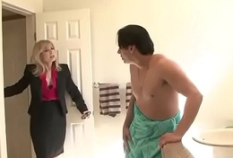 roasting mom seduces son'_s collaborate - Watch Part 2 readily obtainable FilthyGeek.com