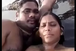 Desi BF and GF unsympathetic enjoyment on beach