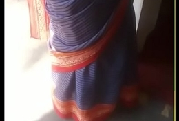 Real aunty saree