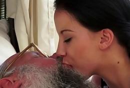 Age-old young giving a kiss compilation