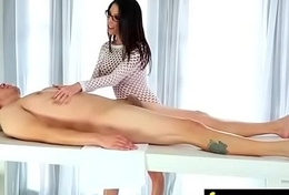 Deepthroat Oral sex From Big Tits Kneading Girl 26