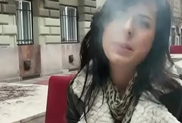 Public Dick Sucking With Euro Teen Amateur For A Infrequent Bucks 11