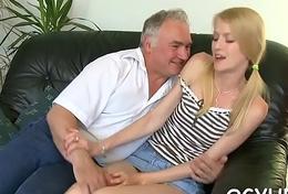 Granddad bangs juvenile wet crack