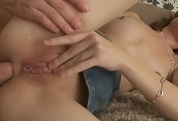 Cummy teen ass rammed