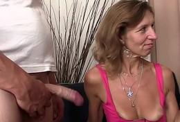 She's riding little one in law cock