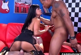 Mexican Floosie Maid Gabby Quinteros Gets Double Teamed