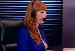 (Lauren Phillips) Hawt Low-spirited Girl Alongside Big Round Boobs About Coition Fake About Office clip-17