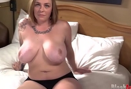 Chesty titted redhead gets demolished by sulky cock