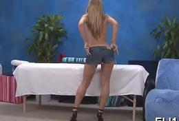 Girl undresses before coxcomb