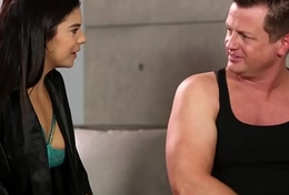Awkward boner during leg massage - Violet Starr, Eric Masterson