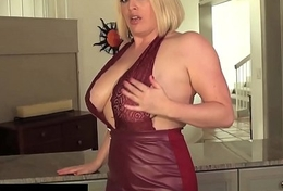 Curvy Cutie Maggie Green Self Worships Will not hear of Tits &amp_ Cums Hard!