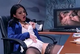 (Cindy Starfall) Big Tits Sluty Girl In Hardcore Sex In Office clip-11