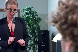 (Britney Amber) Big Tits Sluty Sweeping In Hardcore Sex In Office clip-06