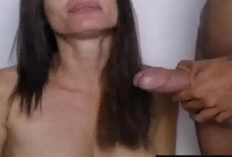 Milf sucks big abiding blarney on webcam on MyMilfSexCam.com