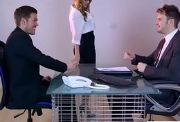 (Stacey Saran) Sultry Woman With Big Tits Get Sex In Office clip-27