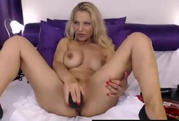 Milf busty blonde dildo pussy on webcam - MyMilfSexCam.com