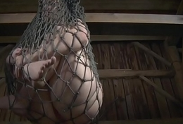 Vault sub suspended by her maledom master