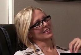 Office Milf Julia Ann Sucks Weasel words &amp_ Gets Hot Gawky Facial!