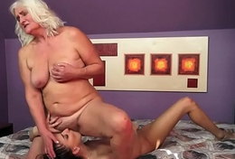 Hairy granny and les babe scissoring love tunnels