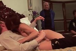 Morose Jenla Moore fucks while her skimp watches