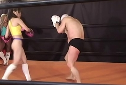 Japanese Mixed Fight with an increment of Femdom
