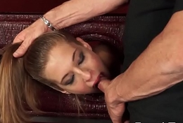 Skinny Teen Grown Blowjob with an increment of Rammed Viciously