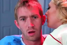 Horny Patient (Kagney Linn Karter) Come Off c remove Nailed Elbow Doctor video-15