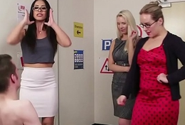 CFNM milf teachers tugging load of shit draw up