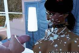 Virtual 3D Latina Hispanic Babe in arms All over Big Pest Going to bed In Multiplayer Game!