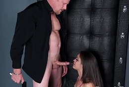 Sexy Whore Sucks Cock plus Pounded Ferociously