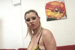 Slut Blonde MILF Deepest Anal
