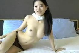 Simmering Chinese model cum helter-skelter vibrator toy on livecam xxx