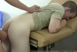 New video blithe male curative exam Mick about to picks up a test bottle that