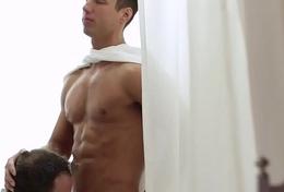 Horny mormon gets facial