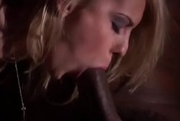 Bored characterless wife sucks a big frowning cock ready to be driven